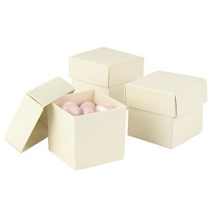 25ct Mix & Match Favor Boxes Ivory