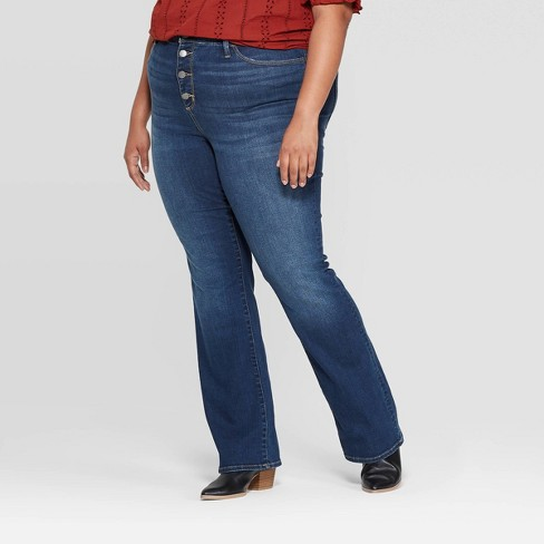 Women's Plus Size Mid-Rise Bootcut Jeans - Universal Thread™ Medium Blue - image 1 of 3