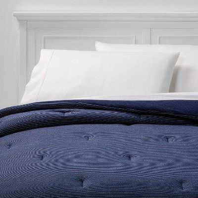 Full/Queen Jersey Comforter Navy - Room Essentials™