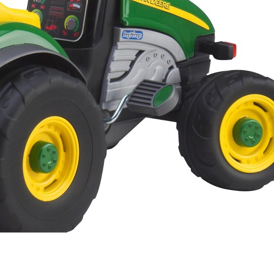 Peg Perego John Deere Farm Tractor with Trailer image number null