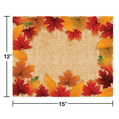 12ct Fall Leaves Placemats