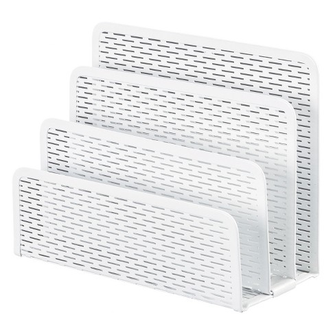 Artistic Urban Collection Punched Metal Letter Sorter, 6 1/2 x 3 1/4 x 5 1/2, White - image 1 of 1