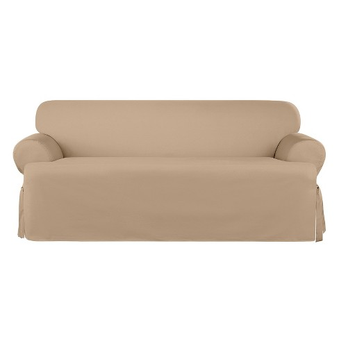 Heavyweight Cotton Duck T Sofa Slipcover Sure Fit