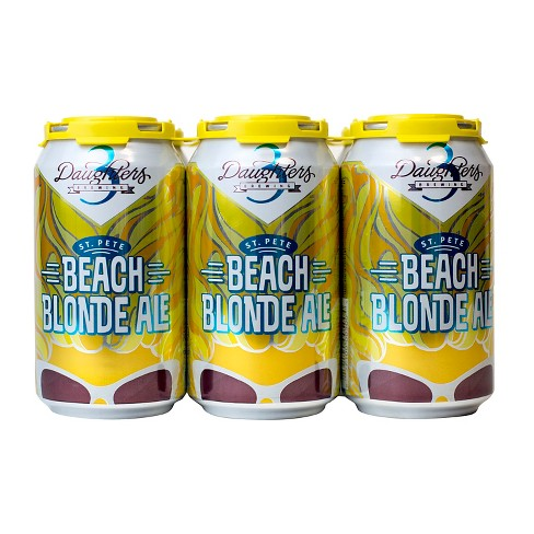 3 Daughters® St. Pete Beach Blonde Ale - 6pk /12 oz Cans - image 1 of 1
