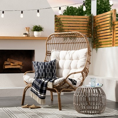 Wicker & Metal Patio Egg Chair - Threshold™ designed with Studio McGee