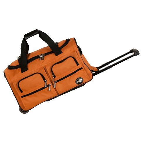 7b5760a3838e Rockland Rolling Duffle Bag - Orange (22