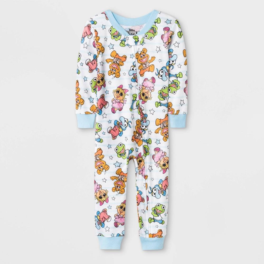 Image of Baby Girls' Muppet Babies Blanket Sleeper - White 12M