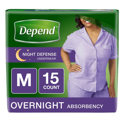 Depend Women's Night Defense Incontinence Underwear - Medium - image 1 of 4