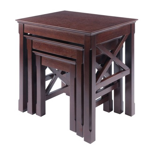3pc Xola Nesting Table Cappuccino - Winsome - image 1 of 4