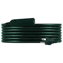 Philips 15' 3-Outlet Grounded Extension Cord Outdoor Green
