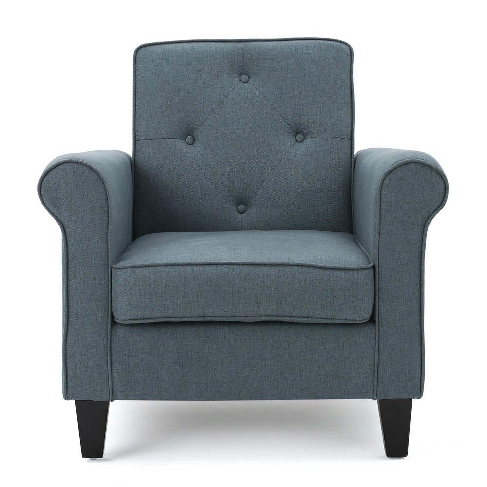 Isaac Tufted Club Chair - Blue/Grey - Christopher Knight Home, Blue Gray