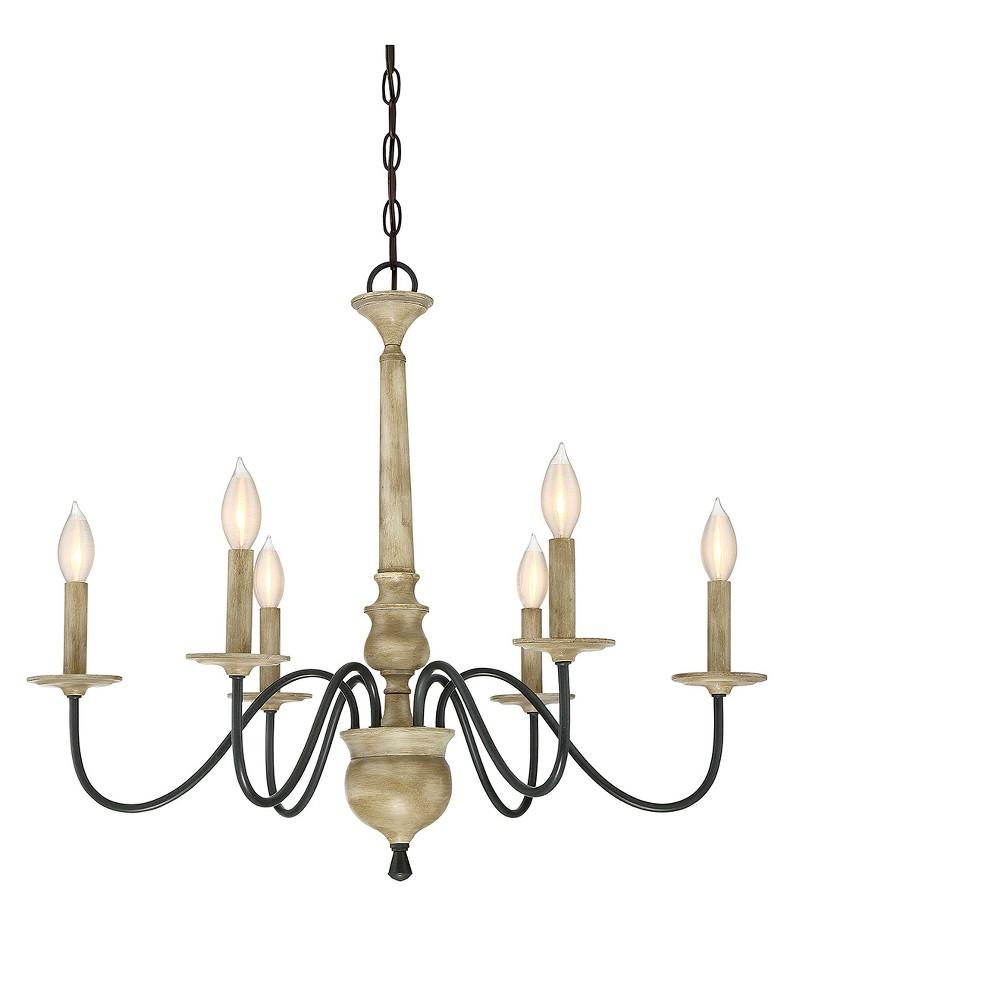 Image of Ceiling Lights Chandelier Distressed Wood - Aurora Lighting