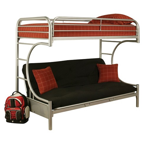 Eclipse Kids Futon Bunk Bed Silver Twin Xl Queen Target