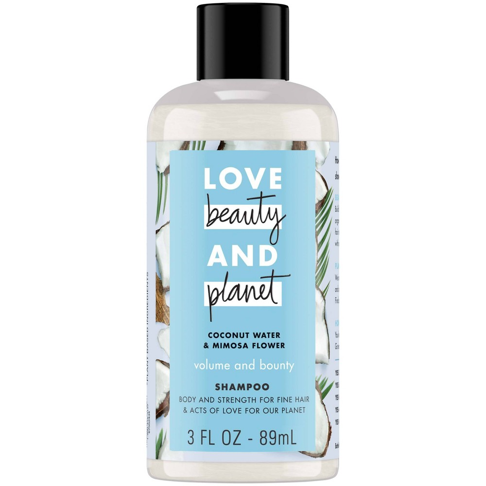 Love Beauty & Planet Coconut Water & Mimosa Flower Volume And Bounty Shampoo - 3 fl oz