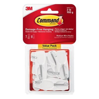 Command Medium Sized Wire Decorative Hooks Value Pack White