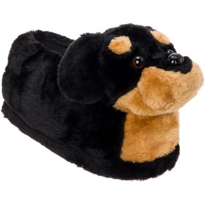 FUNZIEZ! - Women's Rottweiler Animal Slippers