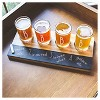 Cathy's Concepts® 4pc Monogram Bamboo & Slate Craft Beer Tasting Flight A-Z - image 3 of 4