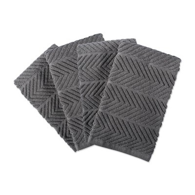 4pk Cotton Chevron Luxury Barmop Towels - Design Imports