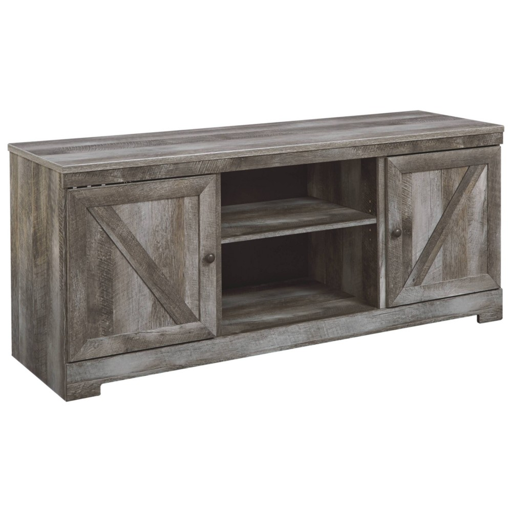 Wynnlow TV Stand with Fireplace Option Gray - Signature Design by Ashley