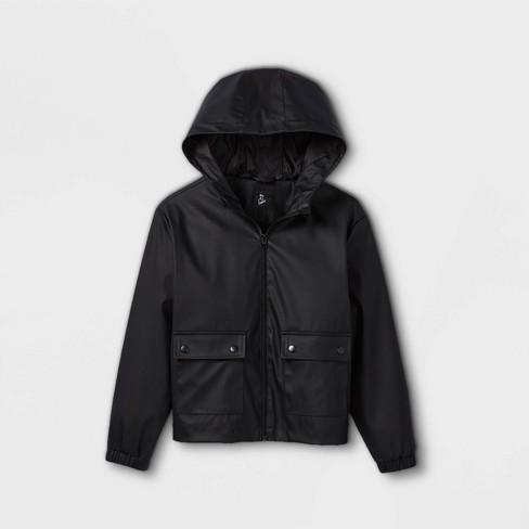 Girls' Hooded Rain Long Sleeve Jacket - art class™ - image 1 of 2
