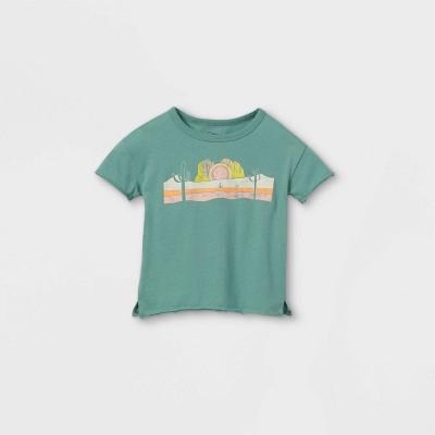 Toddler Desert Short Sleeve T-Shirt - art class™ Teal