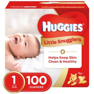 Huggies Little Snugglers Diapers - Size 1 (100ct)