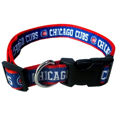 Chicago Cubs Pets First Pet Adjustable Collar - L