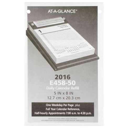 2018 AT-A-GLANCE Pad Style Desk Calendar Refill 5 x 8 - image 1 of 1