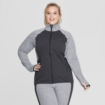 c5fd149e98c8 Women s Plus Size Cardio Track Jacket – C9 Champion® Black Heather ...