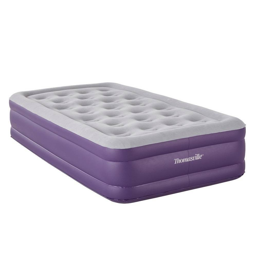 "Image of ""Thomasville Sensation 15"""" Twin Air Mattress with Built in Pump - Purple"""
