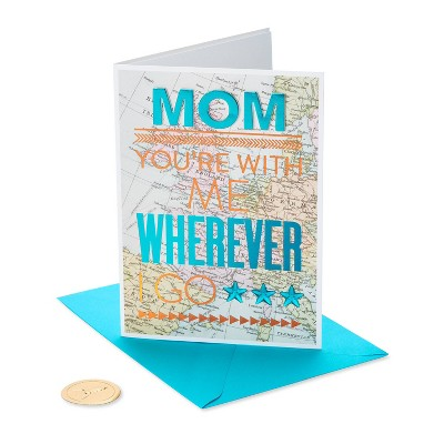 Mother's Day Greeting Card Tips on Letters with Map Pattern - PAPYRUS
