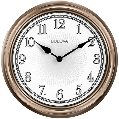 Bulova Clocks C4826 Home Decor Indoor/Outdoor Decorative 14 Inch Diameter Lighted Dial Glowing Light Time Wall Clock