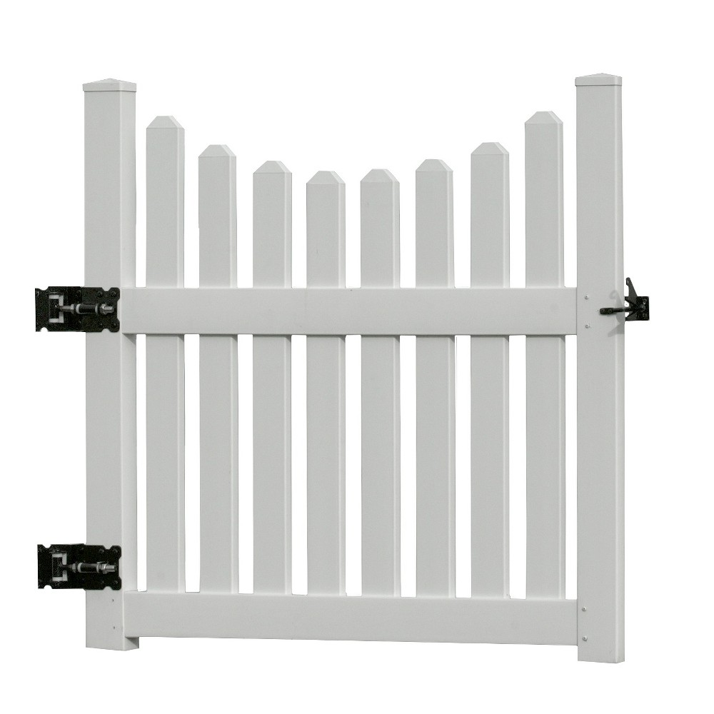 Image of 3.6' Cottage Picket Gate - New England Arbors, White