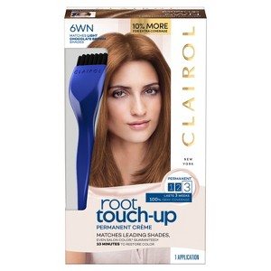 Clairol Root Touch-Up Permanent Hair Color - 6WN Light Chocolate Brown - 1 kit, 6WN Light Brown Brown