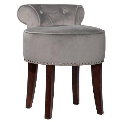 Lena Vanity Stool Gray - Hillsdale Furniture