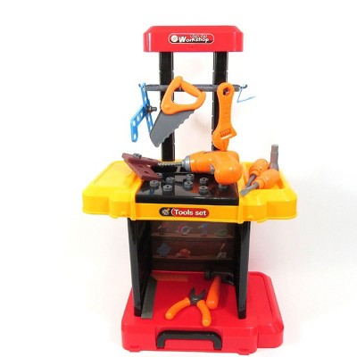 Insten Multifunctional Workbench Tool Playset, Pretend Construction & Building Toys for Kids