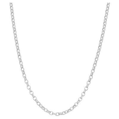 """Tiara Sterling Silver 16"""" - 22"""" Adjustable Rolo Chain"""