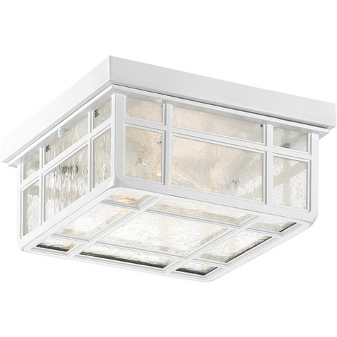 "Kathy Ireland J du J Sierra Craftsman 10 1/2""W White Outdoor Ceiling Light - image 1 of 4"