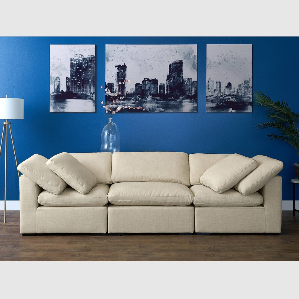 Image of 3pc Aria Sofa Set Beige - RST Brands