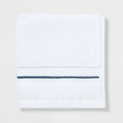 Spa Washcloth Dark Blue Stripe - Threshold Signature™