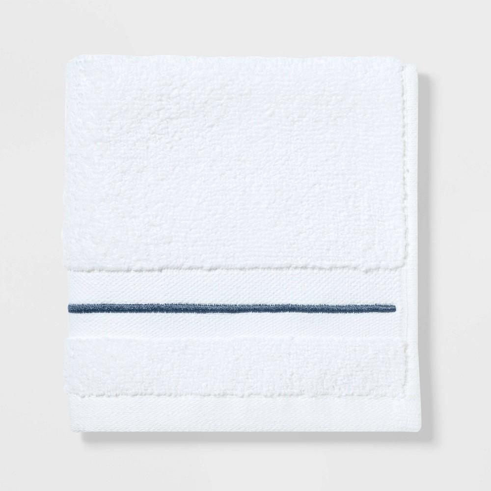 Spa Washcloth Dark Blue Stripe - Threshold Signature Price