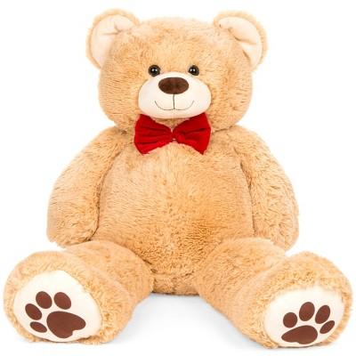 Best Choice Products 38in Giant Soft Plush Teddy Bear Stuffed Animal Toy w/ Bow Tie, Footprints