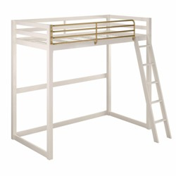 Twin Monarch Hill Haven Metal Loft Bed White - Room & Joy