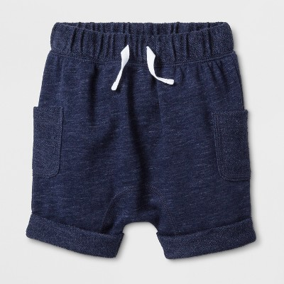 Baby Boys' French Terry Jogger Shorts - Cat & Jack™ Navy 3-6M