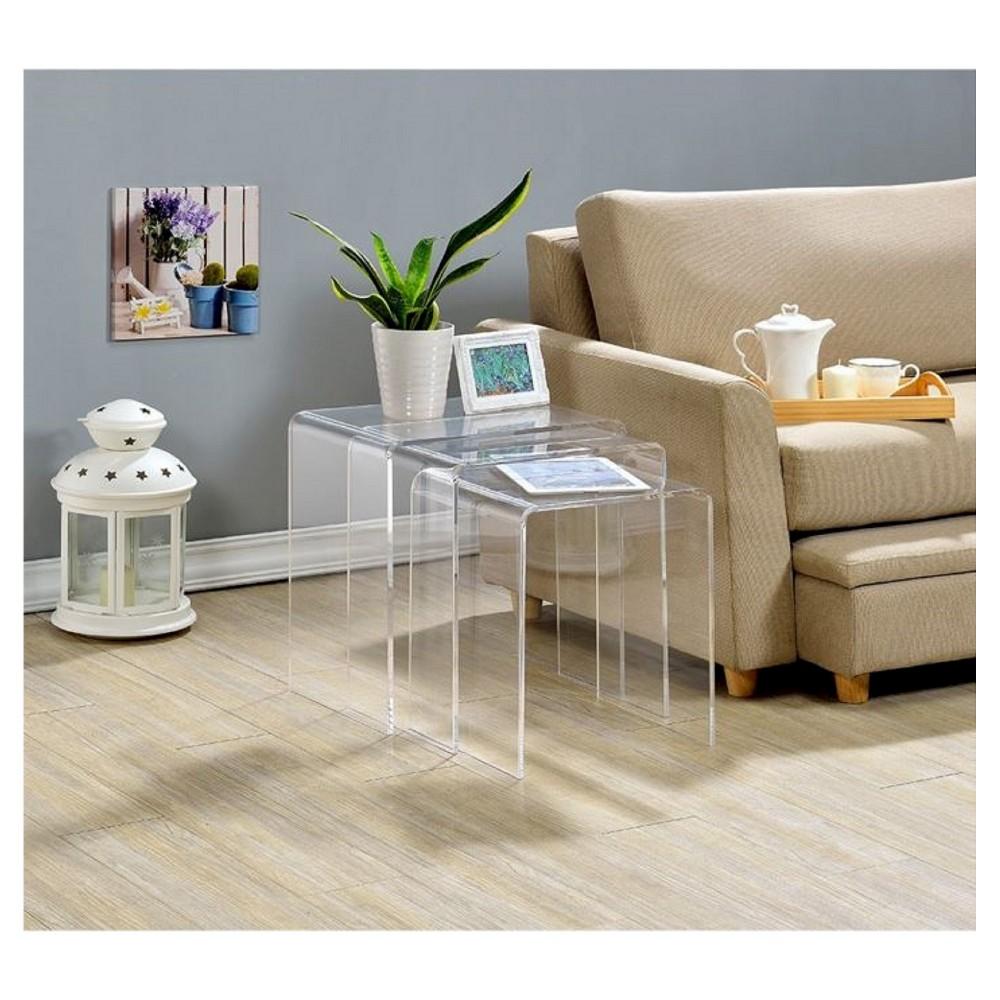 Acrylic Nesting Tables (Set of 3) - Fox Hill Trading
