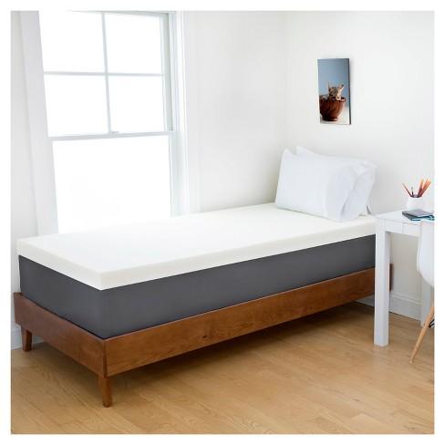 2 Memory Foam Dorm Mattress Topper Authentic Comfort Target