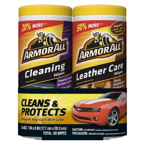 Armor All Leather/Cleaning Wipes 2 pack - image 1 of 1
