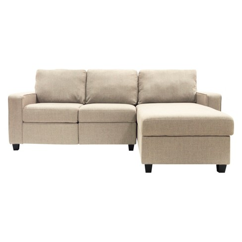 Palisades Reclining Sectional With Right Storage Chaise Serta Target
