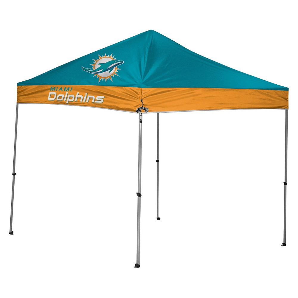 Rawlings NFL Miami Dolphins 9'x9' Straight Leg Canopy Tent