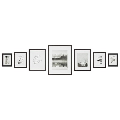 7pc Cluster Gallery Kit Black - Instapoints